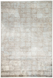 """7'10"""" x 10'10"""" Area Rug Rectangle Brown Blue Greyson Sotto GRY10 Machine Made"""
