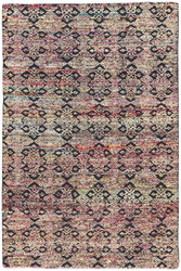 2' x 3' Area Rug Rectangle Multicolor Reign Celine REI03 Handmade Hand-Knotted Global