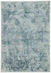 "5' x 7'6"" Area Rug Rectangle Blue Teal Cirque Yvie CIQ05 Machine Made Power-Loomed"