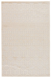 """2'6"""" x 8' Area Rug Runner White Fables Alicante FB145 Machine Made Power-Loomed"""