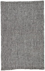 5' x 8' Area Rug Rectangle Black Gray Roland Topper ROL02 Handmade Hand-Loomed