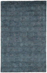 9' x 13' Area Rug Rectangle Blue Brown Capital Harkness CAP01 Handmade Hand-Tufted