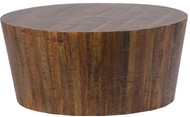 "36"" Diameter Alessandro Coffee Table 16"" Tall Solid Natural Wood Rustic"