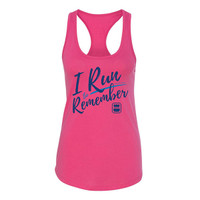 I Run to Remember Women's Racerback Tank - Pink