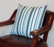 """Blue Beach Stripe Pillow Cover 18"""""""
