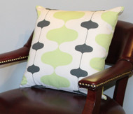 Lime Lava Lamp Pillow Cover 18""