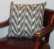 Blurred Chevron Pillow Cover 18""