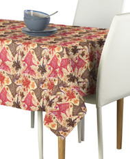 Paisley Fish Coral Signature Rectangle Tablecloths