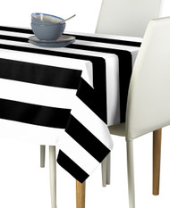 Black & White Cabana Stripe Signature Tablecloth