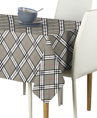 Gray & Black Plaid Signature Rectangle Tablecloths