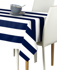 Navy & White Cabana Stripe Signature Tablecloth