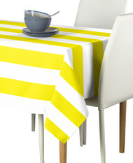 Yellow & White Cabana Stripe Signature Tablecloth