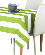 Lime & White Cabana Stripe Signature Tablecloth