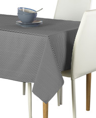 Black & White Pinstripe Signature Rectangle Tablecloths