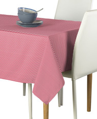 Red & White Pinstripe Signature Rectangle Tablecloths