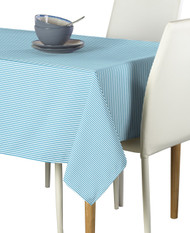 Light Blue & White Pinstripe Signature Rectangle Tablecloths