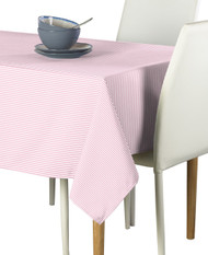 Pale Pink & White Pinstripe Signature Rectangle Tablecloths