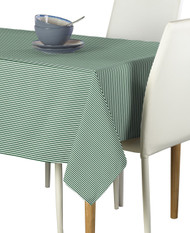 Hunter Green & White Pinstripe Signature Rectangle Tablecloths