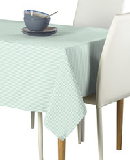 Celadon & White Pinstripe Signature Tablecloths