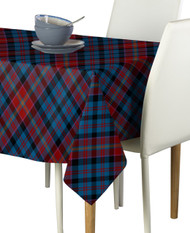 Winter Blue Plaid Milliken Signature Rectangle Tablecloths