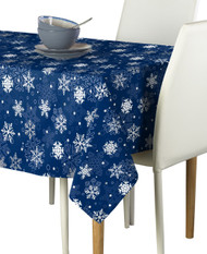 Winter Blue Snowflakes Milliken Signature Rectangle Tablecloths