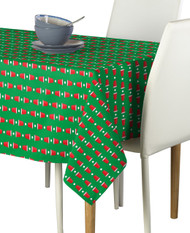 Beer Pong Cups Green Milliken Signature Rectangle Tablecloths