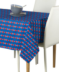 Beer Pong Cups Blue Milliken Signature Rectangle Tablecloths