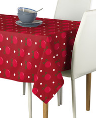 Red Christmas Balls Milliken Signature Rectangle Tablecloths