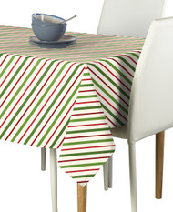 Christmas Red & Green Stripe Milliken Signature Rectangle Tablecloths