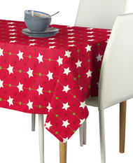 Christmas Stars Red Milliken Signature Tablecloth