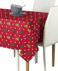 Christmas Trees Red Milliken Signature Rectangle Tablecloths
