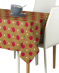 Gold Christmas Balls Milliken Signature Rectangle Tablecloths