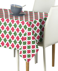 Green & Red Christmas Balls Milliken Signature Rectangle Tablecloths