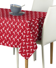 Red Christmas Reindeer Milliken Signature Rectangle Tablecloths