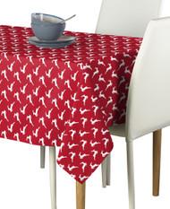 Red Christmas Reindeer Milliken Signature Rectangle Tablecloths