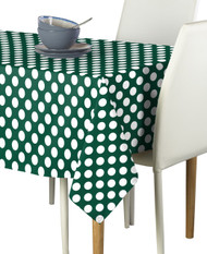 White Dot on Green Milliken Signature Rectangle Tablecloths