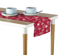 Winter Red Snowflakes Table Runner - Assorted Sizes