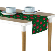Christmas Ornaments Green Table Runner - Assorted Sizes