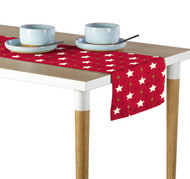 Christmas Stars Red Table Runner - Assorted Sizes