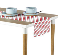 Peppermint Stripe Table Runner - Assorted Sizes
