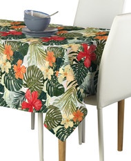 Hibiscus Garden Milliken Signature Rectangle Tablecloths