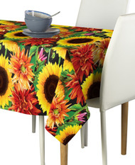 Sunflower Garden Milliken Signature Rectangle Tablecloths