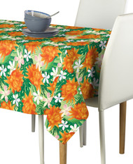 Tropical Orange Plumera Milliken Signature Rectangle Tablecloths