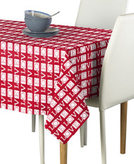 Love Text Red Milliken Signature Rectangle Tablecloths