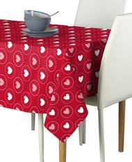 Hearts All Around Red Signature Rectangle Tablecloths
