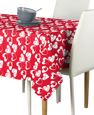 Tangled Hearts Red Milliken Signature Rectangle Tablecloths