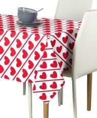 Hearts Diagonal Stripe Milliken Signature Rectangle Tablecloths