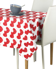 Bunches of Hearts Red Milliken Signature Rectangle Tablecloths