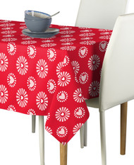 Hearts in Bloom Red Milliken Signature Rectangle Tablecloths