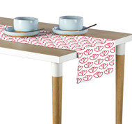 A Pair of Hearts White Table Runner - Assorted Sizes